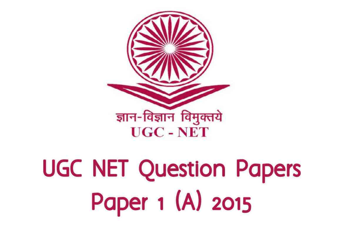 UGC NET December 2015 (A) Paper 1 with Answers and Mock Test