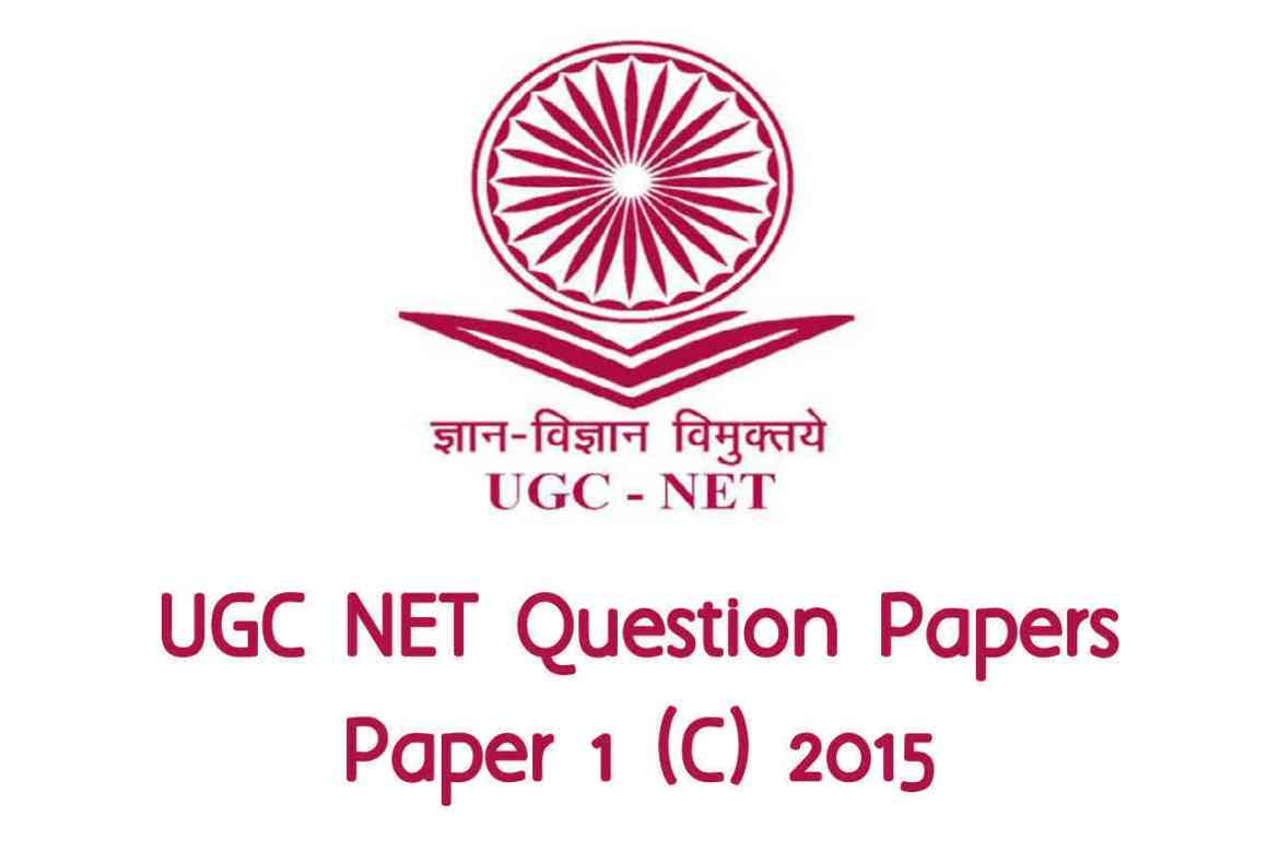 UGC NET December 2015 (C) Paper 1 with Answers