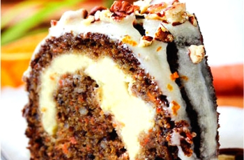 Cream Cheese Carrot Cake With Orange Glaze - Top Family Recipes