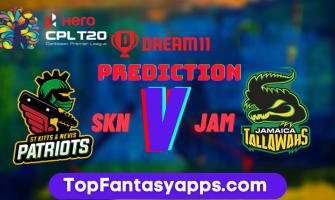 SKN vs JAM Dream11 Team Prediction Today's Match CPL, 100% Winning