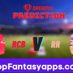 RCB vs RR Dream11 Team Prediction for Todays IPL Match,100% Winning