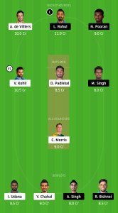 RCB-vs-KXIP-Dream11-Team-for-Small-League