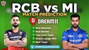 MI vs RCB Dream11 Team prediction: VIVO IPL 2021 1st Match Tips, Pitch Reports