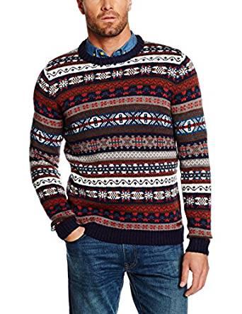 TOM TAILOR Herren Pullover Jacquard Sweater