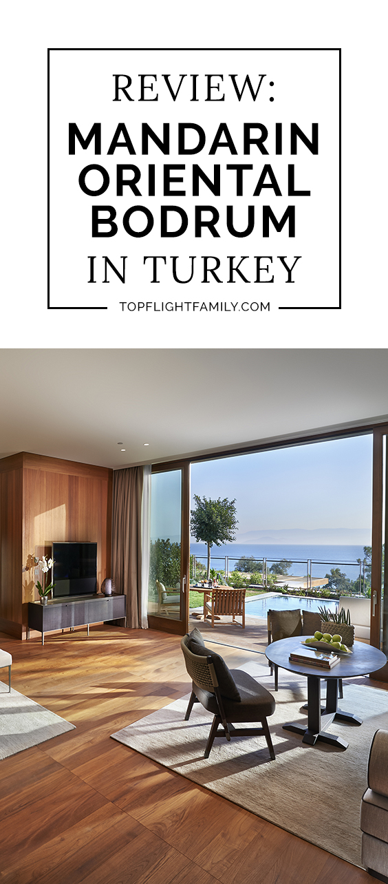 The Mandarin Oriental Bodrum is a luxury hotel in Turkey that is fantastic for parents and kids alike.