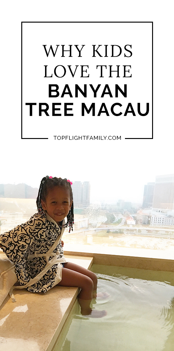 Visiting Macau with your kids? If your kids would enjoy having a pool INSIDE their room, you should stay at Banyan Tree Macau. The pool is just the start.
