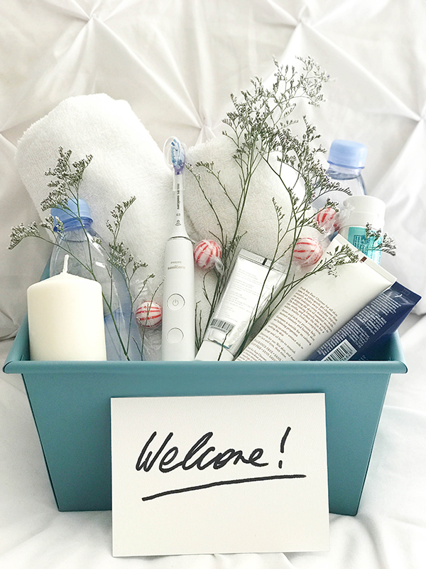 welcome basket ideas for house guests