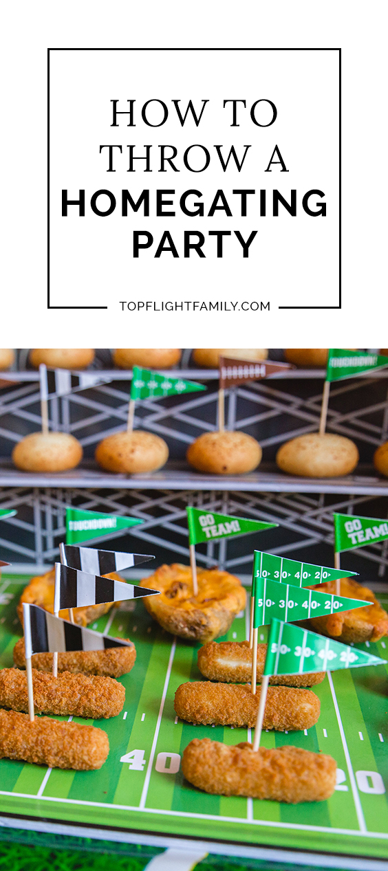 Many families love tailgating, but it's not always feasible with kids. Instead, celebrate game day with a football-themed party at home! Here are 5 tips.