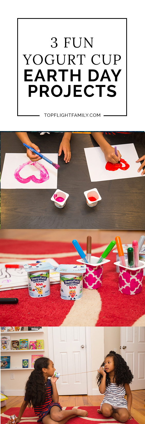 Looking for some fun and easy Earth Day projects to do with yogurt containers? Here are 3 ways to re-use them for Earth Day projects.