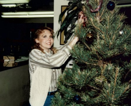 Pam with the tree