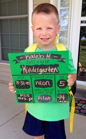 Kaleb starting Kindergarten