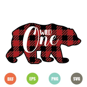 Free Bear Buffalo Plaid Svg File for cutting machines