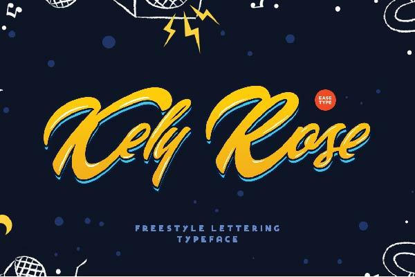 Free Kely Rose Font