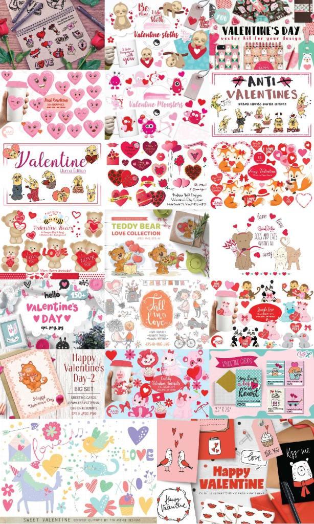 The valentine graphic bundle