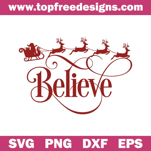 Free believe svg file for cricut, silhouette cameo