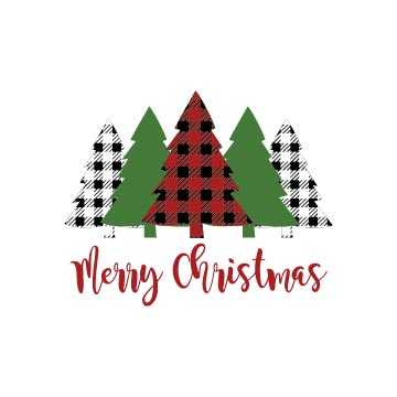 Free Merry Christmas Buffalo Plaid Trees Svg file for cricut