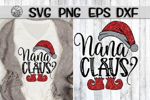 free nana clause svg file