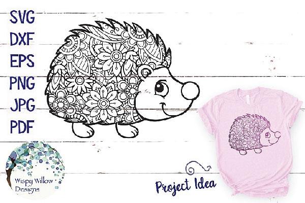 Free Hedgehog Zentangle CRICUT SVG