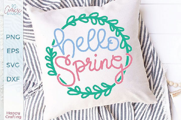 free hello spring svg file
