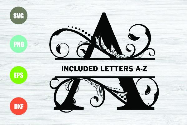 Split letters svg