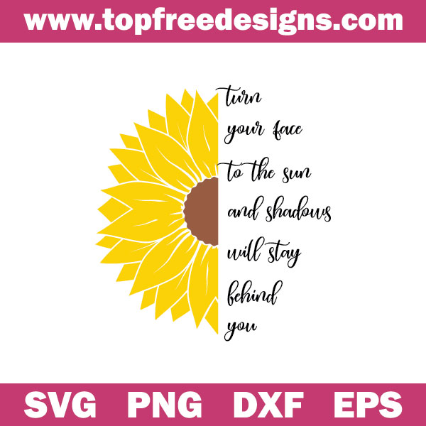 Sunflower With Sayings free svg file