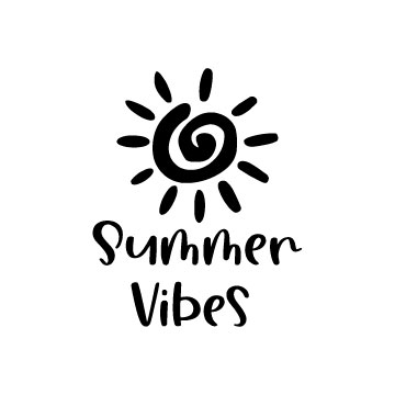 Summer vibes free svg file for cricut