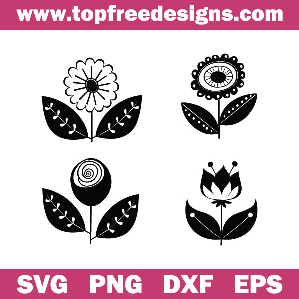 Free Retro Flowers svg files