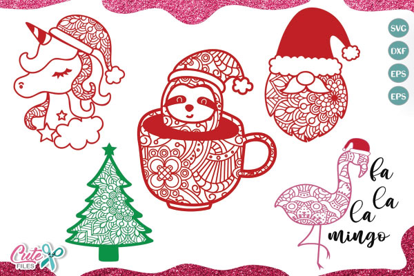 Christmas Mandala mini bundle SVG