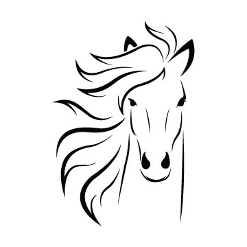 horse head svg