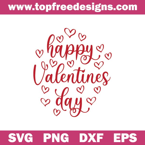 Happy Valentines Day svg free