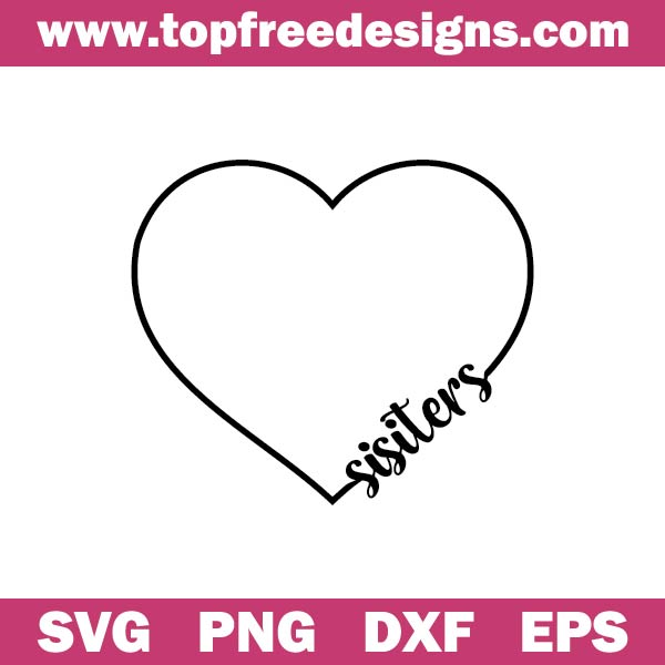 heart sisters svg