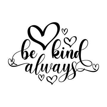 be kind svg free
