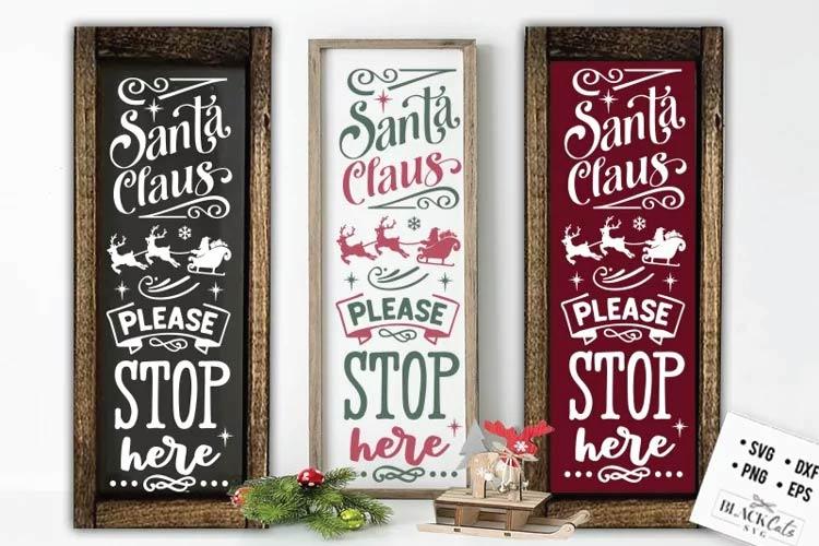 Christmas porch sign SVG free