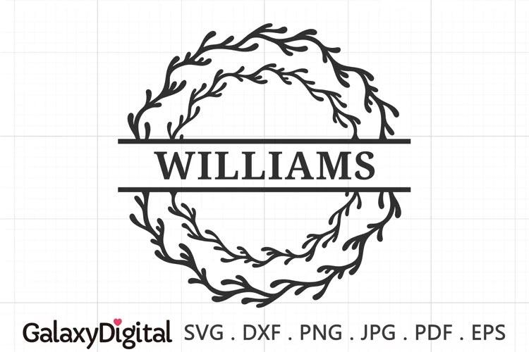 Coral Wreath Split SVG frame svg