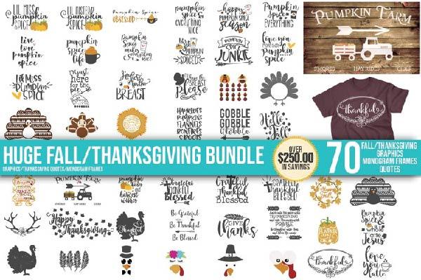 FREE Fall Pumpkin Halloween SVG Thanksgiving Bundle