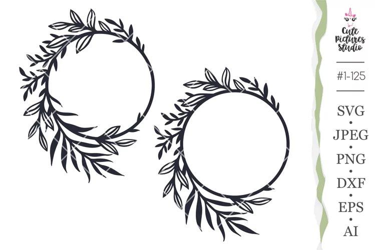 Flower Monogram Frame Cricut SVG free