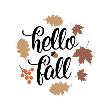 Hello Fall svg free