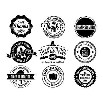 Thanksgiving badges svg free