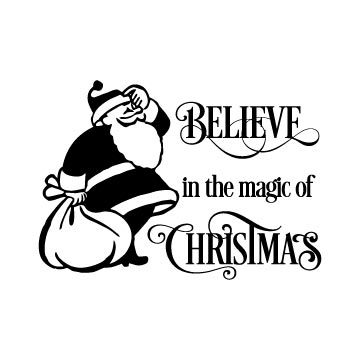 Believe in the magic of Christmas Svg free