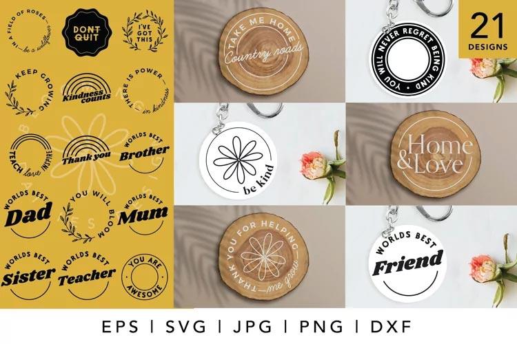 Circle Keychain SVG free