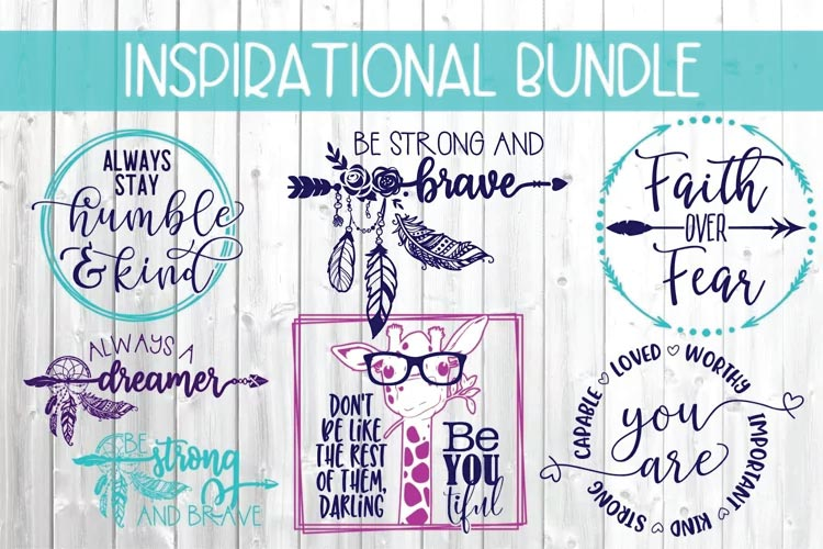 Inspirational Design Bundle svg free