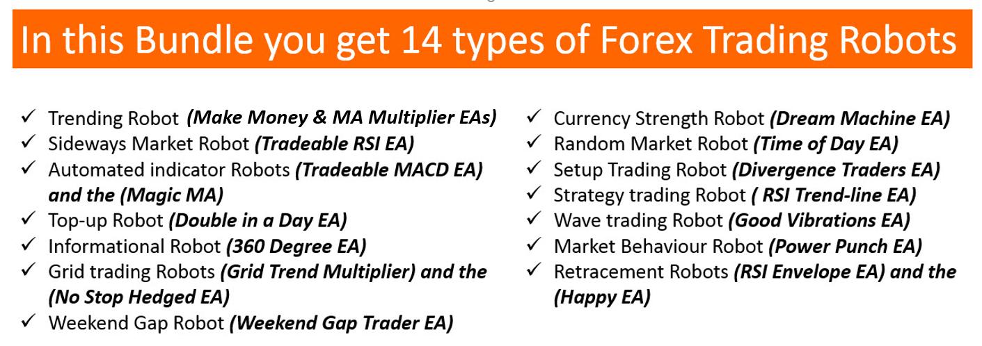 18 trading robot bundles
