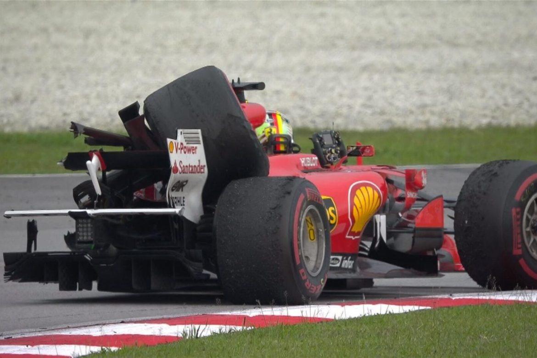 Sebastian-Vettel-Lance-Stroll-crash-Malaysian-Grand-prix-F1-cool-down-lap-1300x867