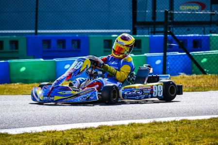 Alyx Coby at Round 1 of the Motorsport Ireland Karting Championship. Photo: Marc Quinlivan