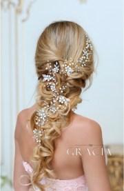dora flower long wedding hair accessories