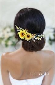 hypatia yellow sunflower bridal