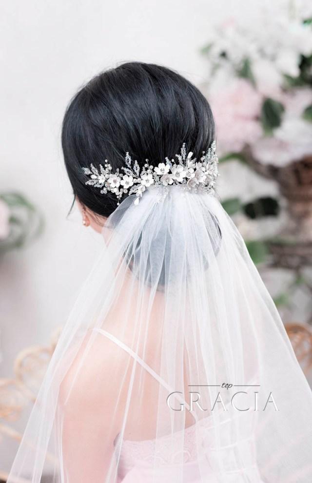 enhance your romantic bridal hair half up half down