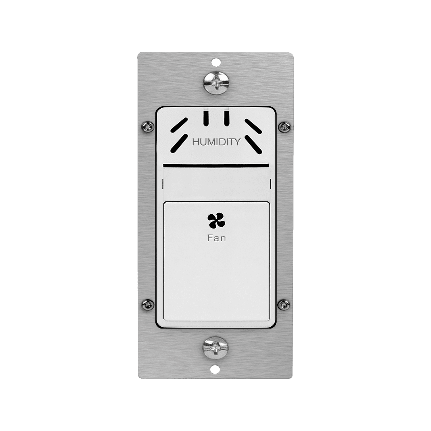 in wall humidity sensor switch fan exhaust control white