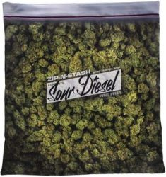 Baggie of Cannabis Weed Pillowcase