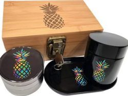 Rainbow Pineapple Stash Box Combo
